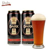 德国进口:德博 黑啤酒500ml*12听