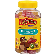 小神价!L'il Critters 含DHA Omega-3软糖 鱼形,120粒*3瓶
