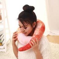 漫趣 吃货系列 虾仁U形枕