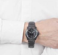 Citizen 西铁城 男士光动能 黑色钢带腕表  AW1354-82E