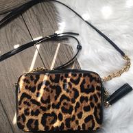 MICHAEL Michael Kors Ginny Leopard Calf Hair 女士斜挎包
