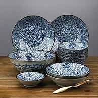 日本进口 美浓烧 十头碗碟餐具 10件套