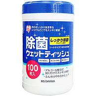 医用酒精杀毒!日本 IRIS 除菌湿巾 100片