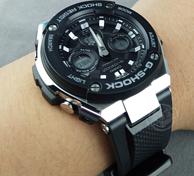 CASIO 卡西欧 G-SHOCK G-Steel GST S310-1A 男士太阳能腕表