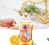 CHANTE CLAIR 大公鸡管家 橙子味无磷洗碗液浓缩洗洁精 500毫升*3