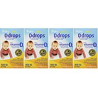 Ddrops 婴儿维生素d3滴剂 90滴x4瓶