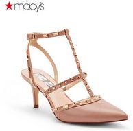 Macy's 梅西百货 女士 尖头铆钉中跟凉鞋