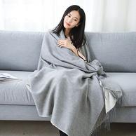 拉夫勞倫制造商生產,網易嚴選 澳洲羊羔毛AB面蓋毯 三色