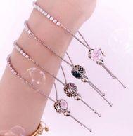 2件!PANDORA潘多拉 闪耀粉色手链绳