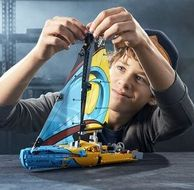 LEGO 樂高 科技機械組 42074 競賽帆船