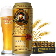 德国进口 schwarzer herzog 歌德 小麦啤酒 500ml*24听*2件