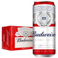 0点开始!为世界杯囤货!500ml*18听 Budweiser 百威啤酒