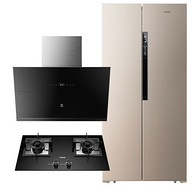 套装 :VIOMI 云米 BCD-456WMSD 对开门冰箱+CXW-240-VC301+JZT-VG301 侧吸式烟灶套装