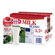 波兰 Mlekovita 妙可 全脂纯牛奶250ml*12盒 *8件