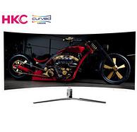 小神价!18日0点: HKC 惠科 C340 34英寸 VA曲面显示器