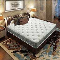 镇店之宝:Airland 雅兰 舒伯特 高档真皮双人床+希尔顿酒店版乳胶弹簧床垫 1.5-1.8米