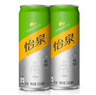 补货,可口可乐出品:Schweppes 零糖零卡 柠檬味苏打水 330ml*24罐 *2箱