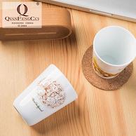 G20峰会国宴瓷供货商 千峰越瓷 瓷杯 四件套