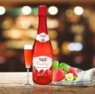 比利时原装 灰姑娘的梦 无醇起泡 草莓味葡萄汁碳酸饮料750ml*5件