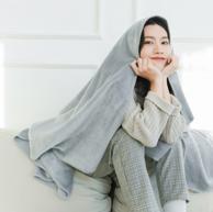 网易严选 素色暖绒盖毯 180*200cm