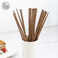 无漆无蜡 宣陶 鸡翅木 实木筷子10双