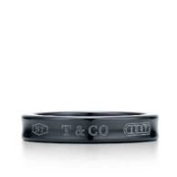 Tiffany & Co 蒂芙尼 1837系列 钛金 窄戒指