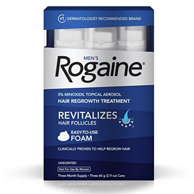 Rogaine 落健 Hair Regrowth Treatment 男用生发泡沫 60g*3 *2件