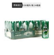 Perrier 巴黎水 含气天然矿泉水 330毫升 24罐 *3件