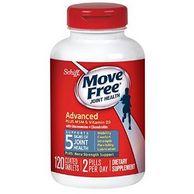 120粒,Move Free Schiff 强效骨胶原维骨力 蓝瓶 MSM & D3