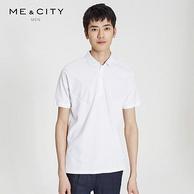 Me&City 男士 拼接 Polo衫