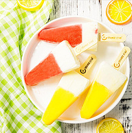 橙色星球 网红冰淇淋 水果夹心牛乳雪糕 80*10支装