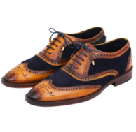 手工制作 美国 Lethato 男士 布洛克雕花 皮鞋