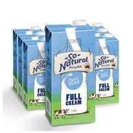 澳洲原装进口, So Natural澳伯顿 全脂纯牛奶 1Lx12箱装