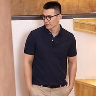 100%珠地棉,大卫山  男短袖polo衫