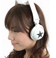 卖萌神器,Nekomimi Headphone 猫耳式头戴耳机