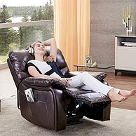 亚马逊销量第一!芝华仕 真皮电动头等舱沙发 K831BM