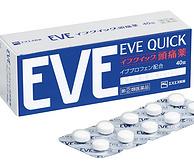日本药店医生推荐!SS 制药 株式会社 EVE QUICK 速效止痛药 40片