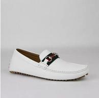 古驰  GUCCI  男款白色牛皮休闲鞋