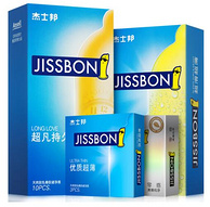 杰士邦 超薄避孕套持久型 苯佐卡因延时安全套 22只*3套