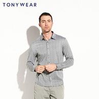 Tony Wear 汤尼威尔 男士 纯棉长袖衬衫