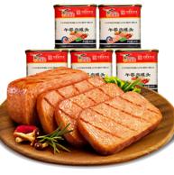 中华老字号:鹰金钱 午餐肉罐头 340g*5罐