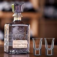俄罗斯原瓶进口 沙皇金樽 金标伏特加 500ml 送2个酒杯
