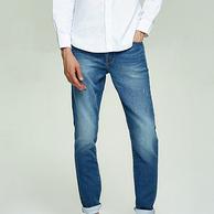网易严选 男式仿弹力针织修身牛仔裤 2色