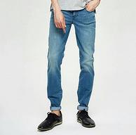 网易严选 男式天丝棉弹直筒牛仔裤 2条