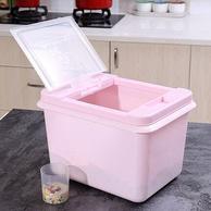 防尘防米虫!蜜蜜花 带盖 塑料米桶 10kg