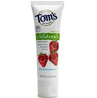 Tom's of Maine 天然防蛀含氟儿童牙膏草莓味 125ml