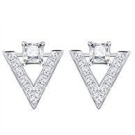 历史低价: SWAROVSKI 施华洛世奇 V字形 方形单钻 耳钉 银色