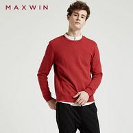 优衣库制造商 MAXWIN 马威 男士 长袖针织衫