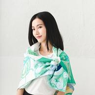 网易严选 航海系列 100%真丝斜纹绸方巾 多色可选
