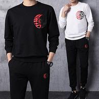 Suken 苏肯 男士 棉质 卫衣+长裤 两件套